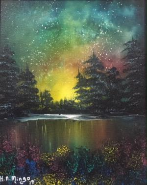 YES, You Too Can Paint Like Bob Ross! - Auroras Dance